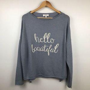 "Gilli Sweater ""Hello Beautiful"""